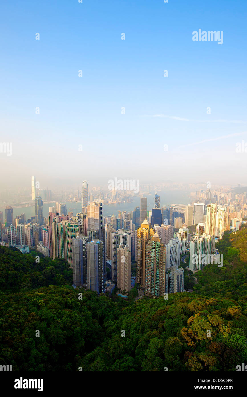 Skyline de Hong Kong Photo Stock