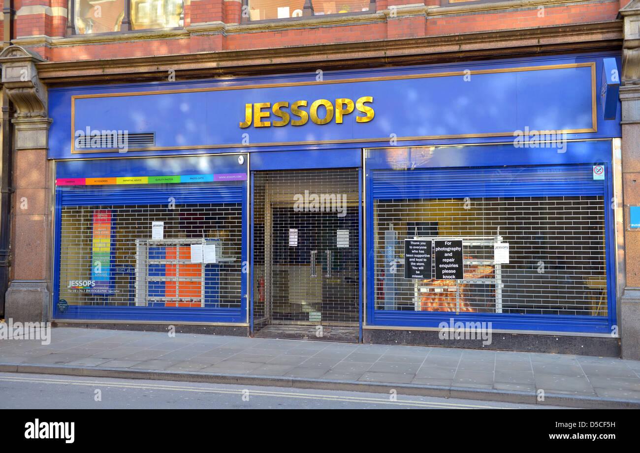Jessops distributeur photographique shop maintenant fermé. Ville d'Oxford, en Grande-Bretagne. Photo Stock