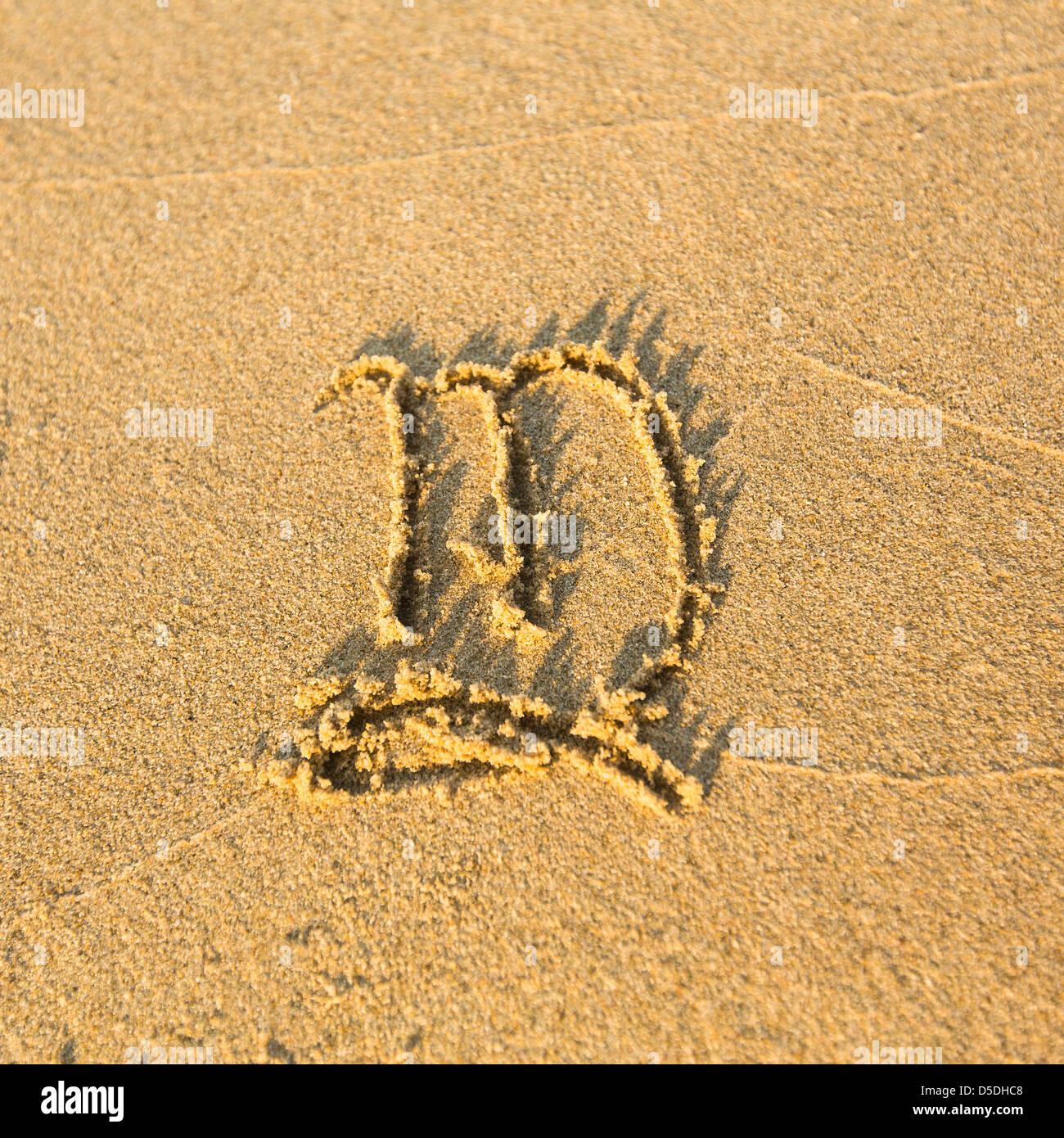 signe astrologique vierge dessin sur la facture le sable de la plage les signes du zodiaque. Black Bedroom Furniture Sets. Home Design Ideas