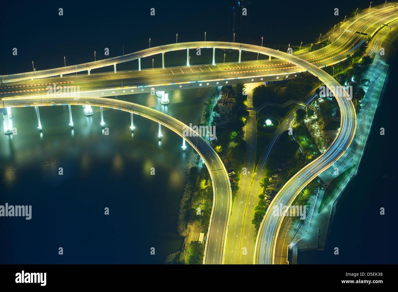 Des rampes et des ponts à Macao, Chine Photo Stock