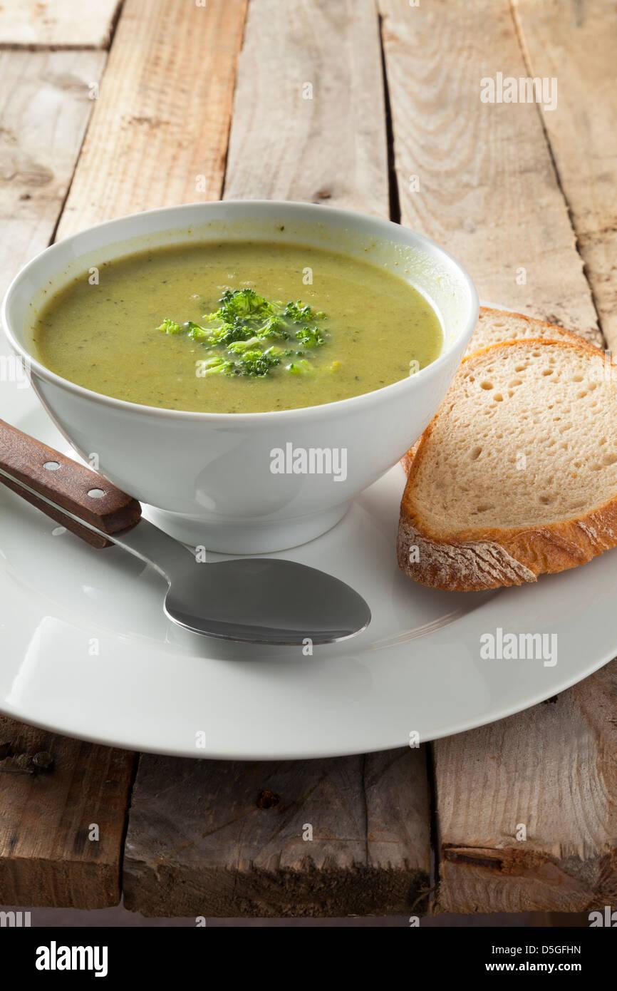 Soupe de brocoli Photo Stock