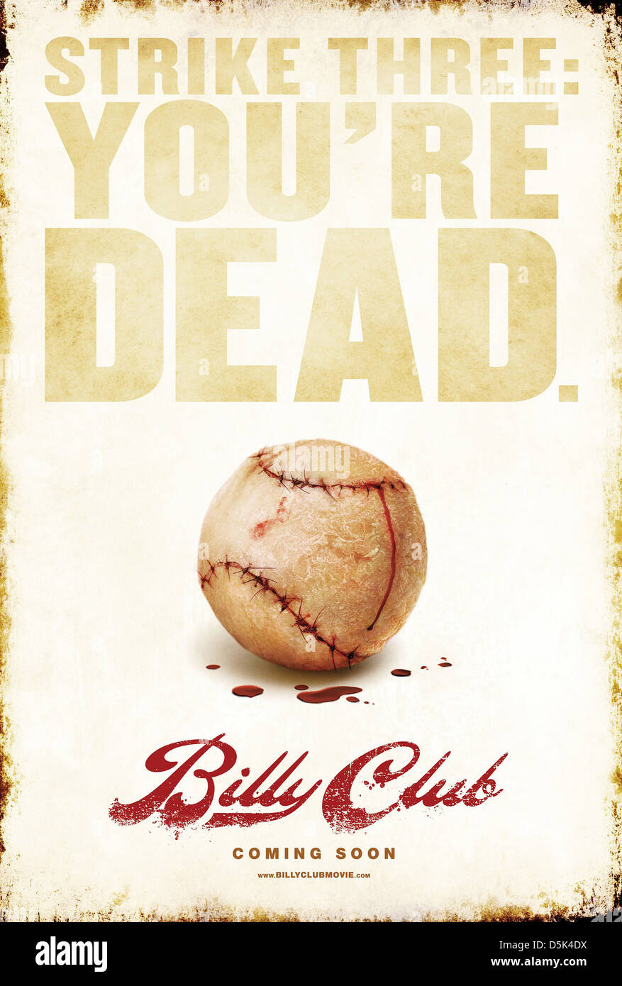 Affiche de film de baseball BILLY CLUB (2012) Photo Stock