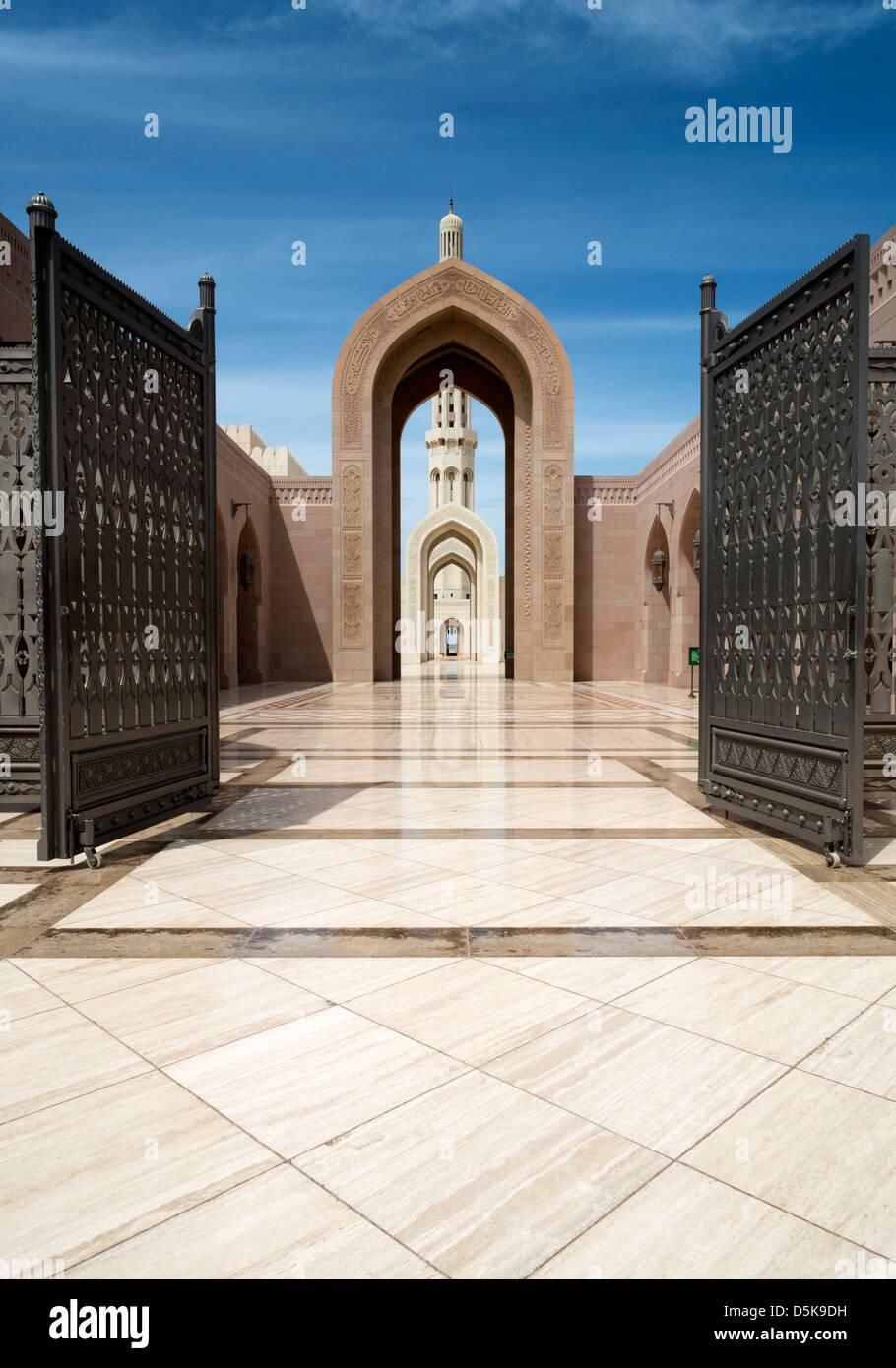 Le Sultan Qaboos Grand Mosque in Muscat Oman Moyen-orient Photo Stock