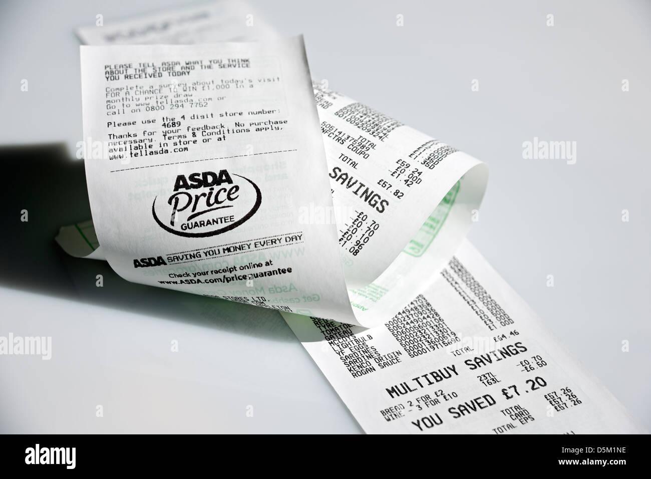 L'ASDA caisse England UK Royaume-Uni GB Grande Bretagne Photo Stock