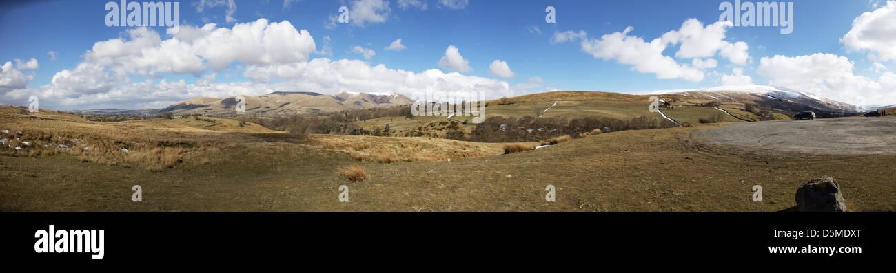 La Dent Défaut est un défaut majeur sur la limite entre les comtés de Cumbria et le Yorkshire du Photo Stock