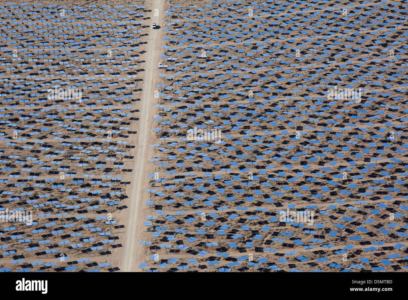 Projet d'énergie solaire Ivanpah Photo Stock