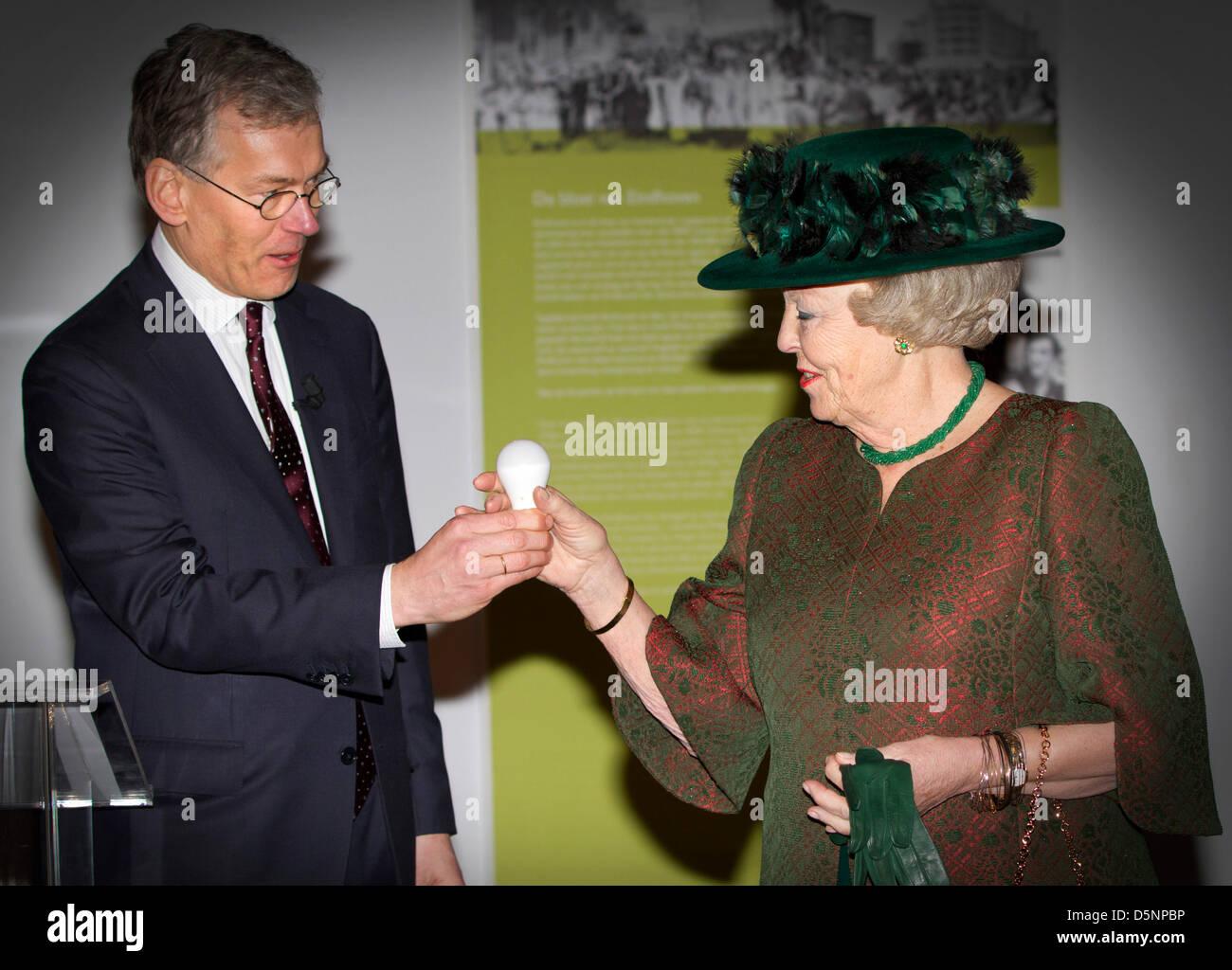 La Reine Beatrix des Pays-Bas et chef de la direction de
