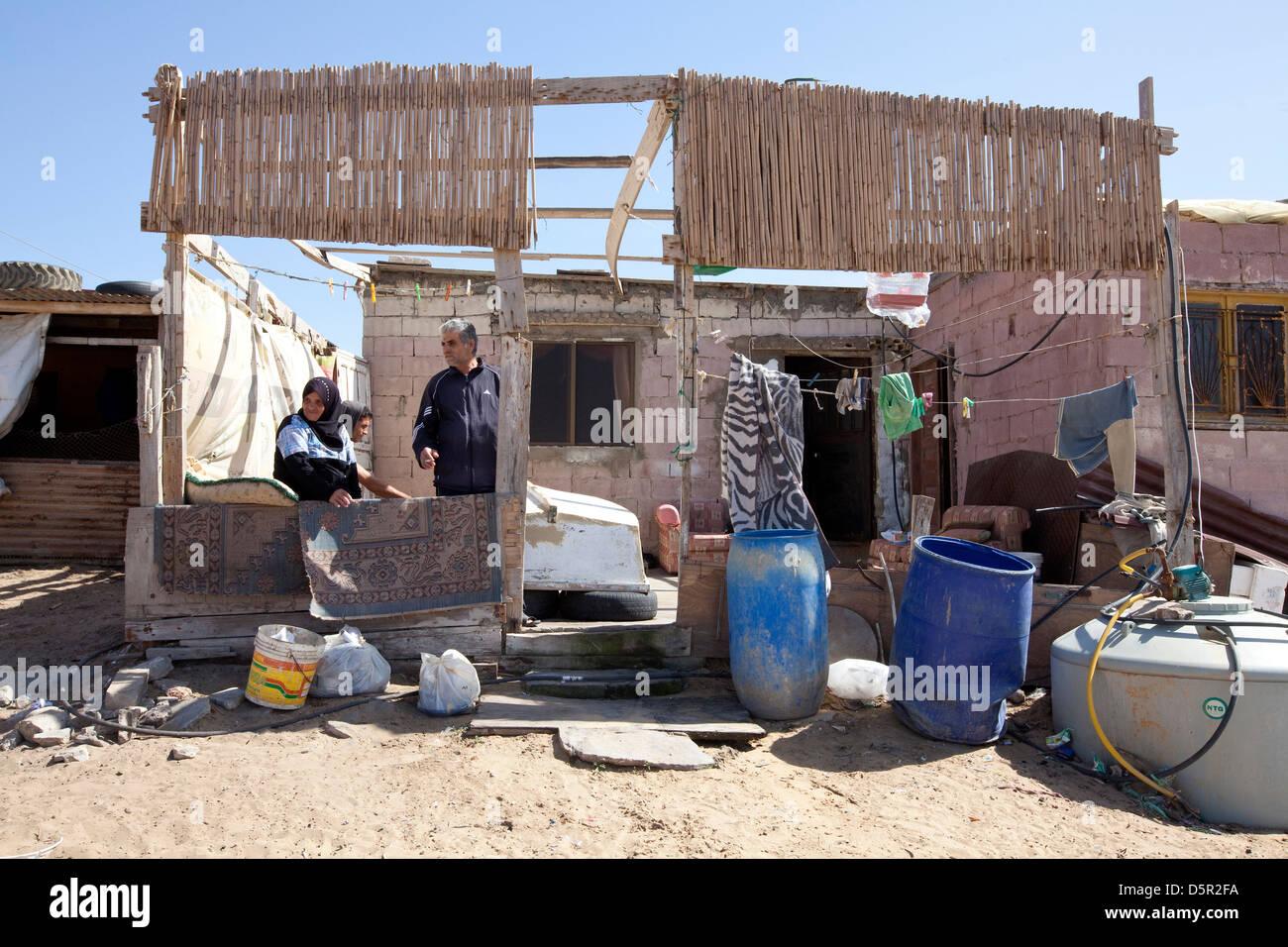 Jal el Bahr, l'établissement des réfugiés palestiniens au Liban, Tyr Photo Stock
