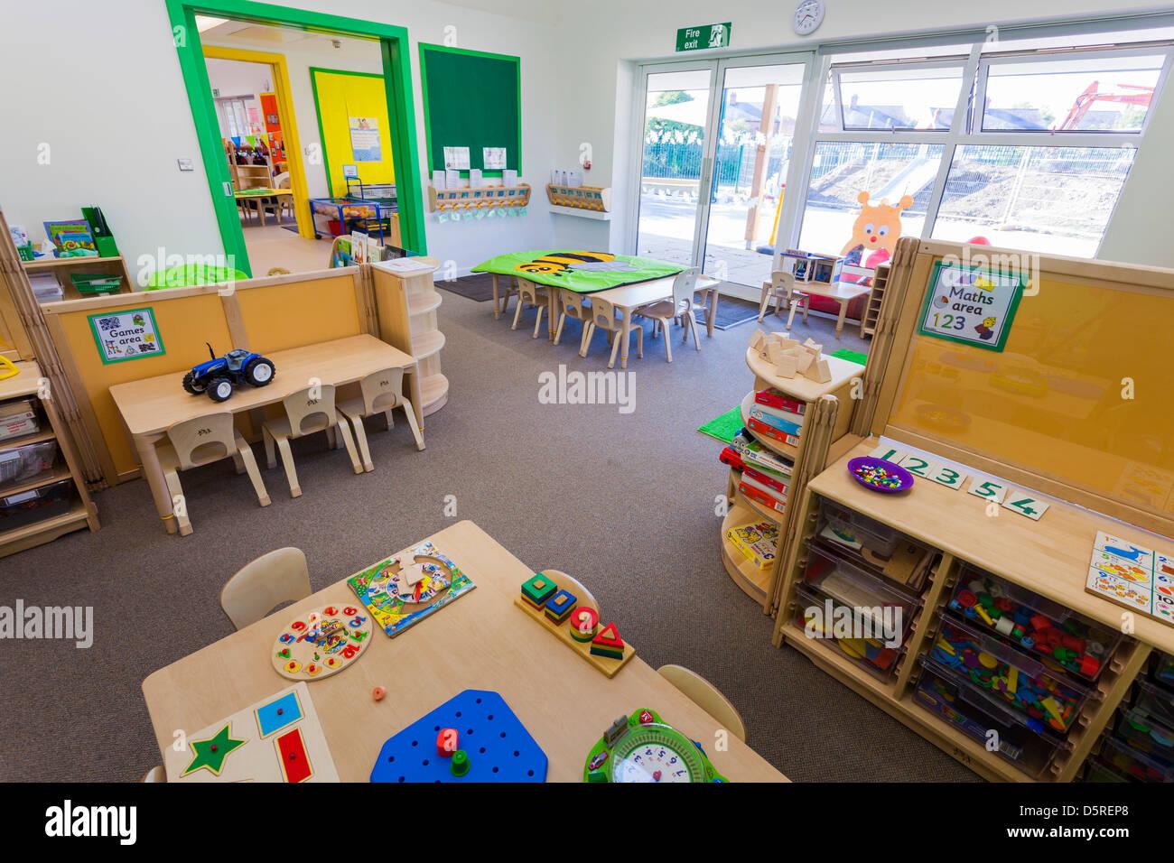 Whitley Park Nursery School classe infantile inoccupé Banque D'Images