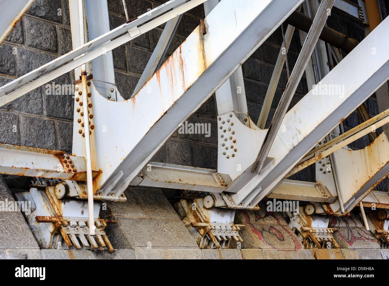 Roulements de support de pont Photo Stock