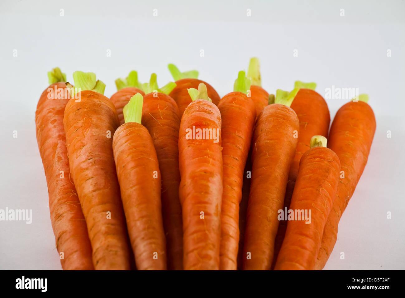Tas de carottes préparé propre Banque D'Images