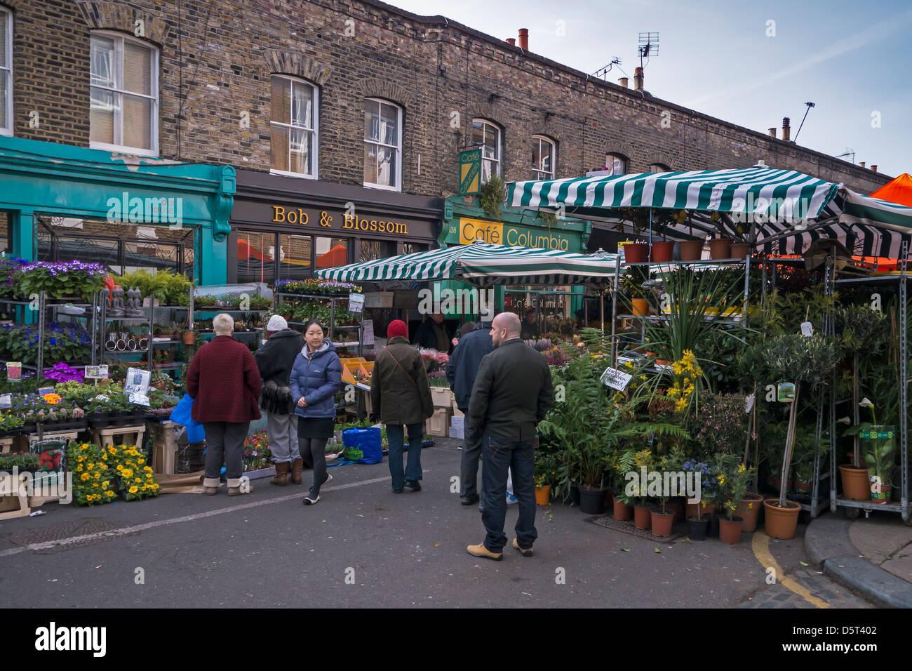 Cale en Columbia Road Flower Market, Londres Photo Stock