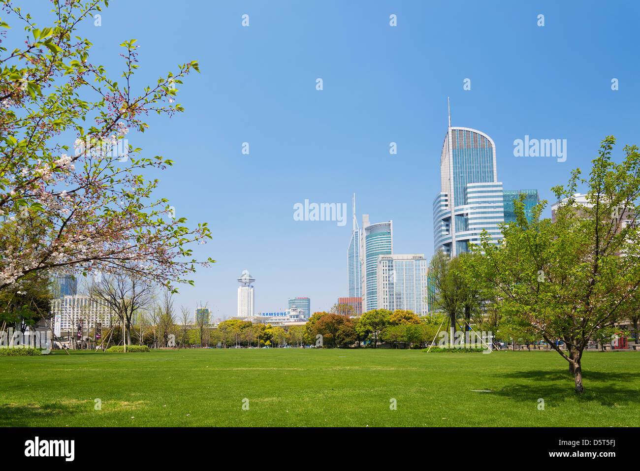 Vue sur le centre de Shanghai en Chine Photo Stock