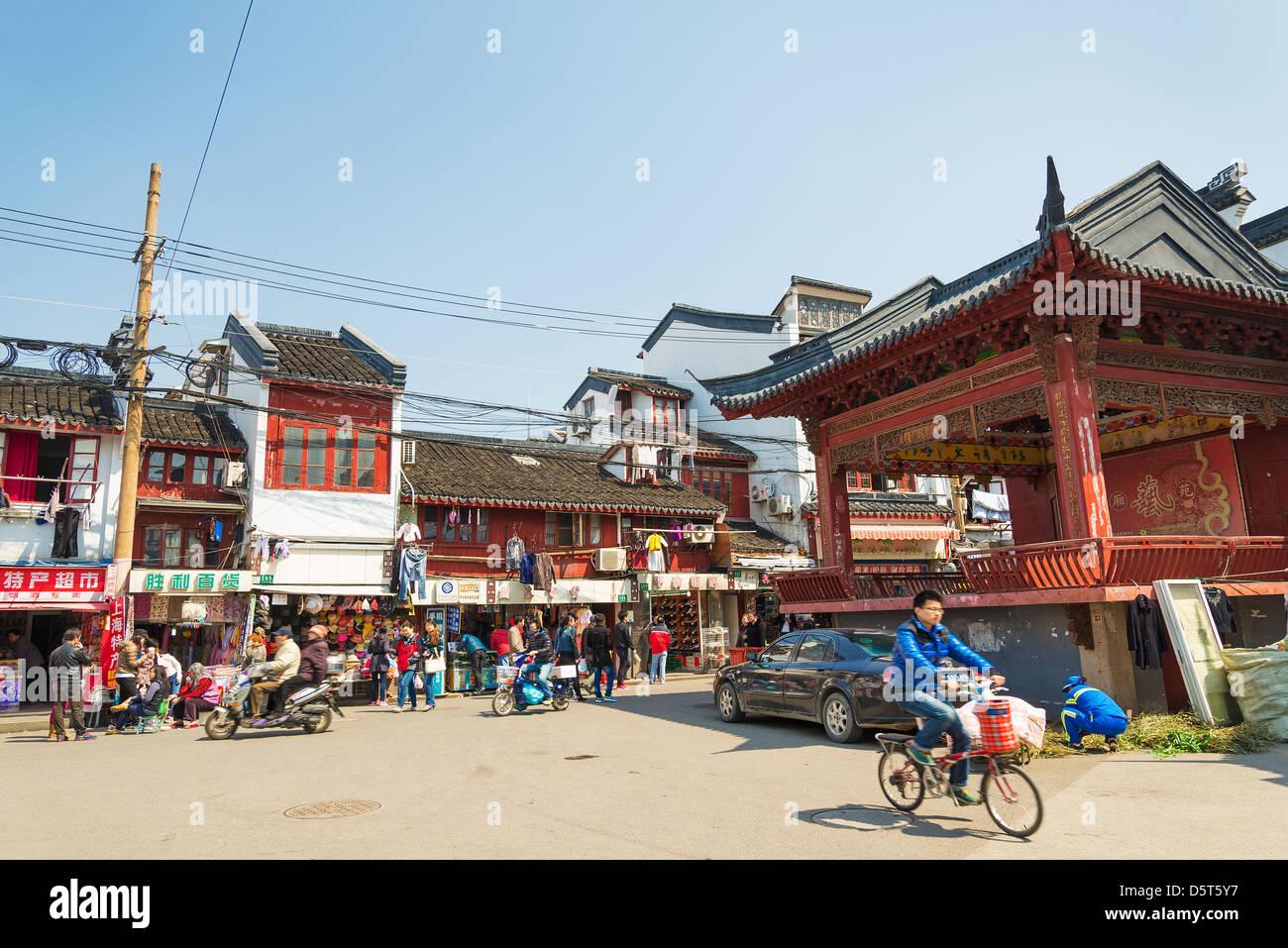 Vieille ville de Shanghai en Chine Photo Stock