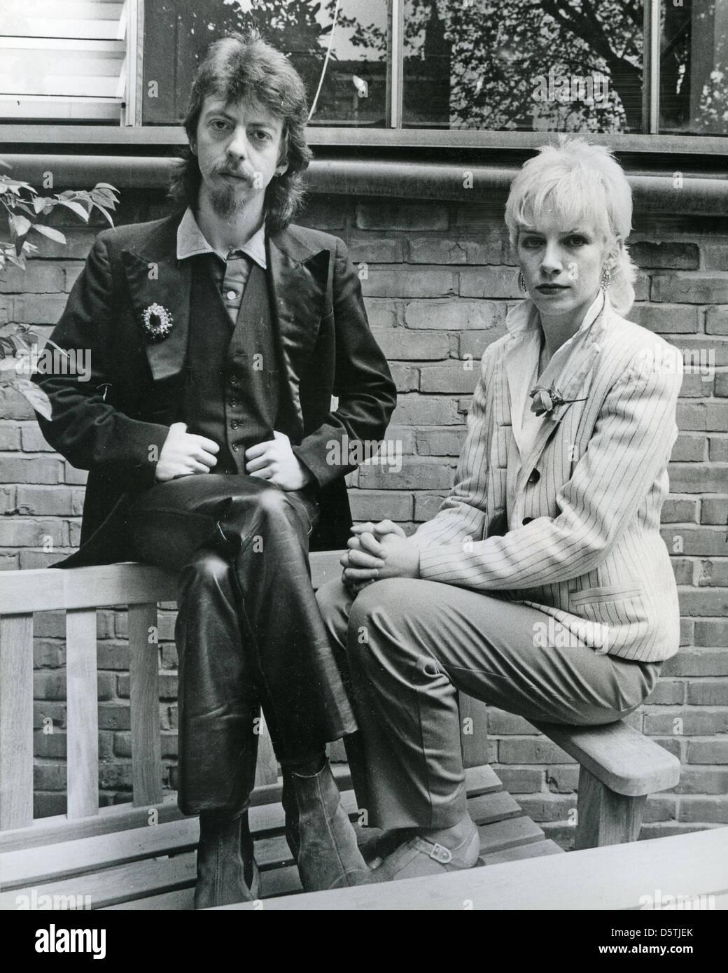 Les touristes UK rock group en février 1980 Photo Stock