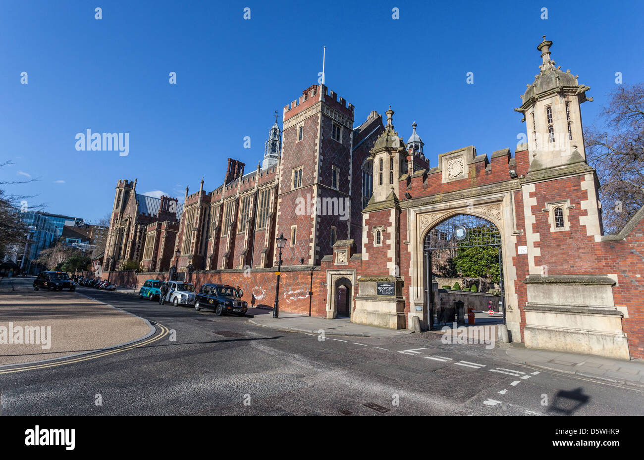 The Gate House à l'Honorable Société de Lincoln's Inn, Lincolns Inn, Newman's Row, Holborn, Photo Stock