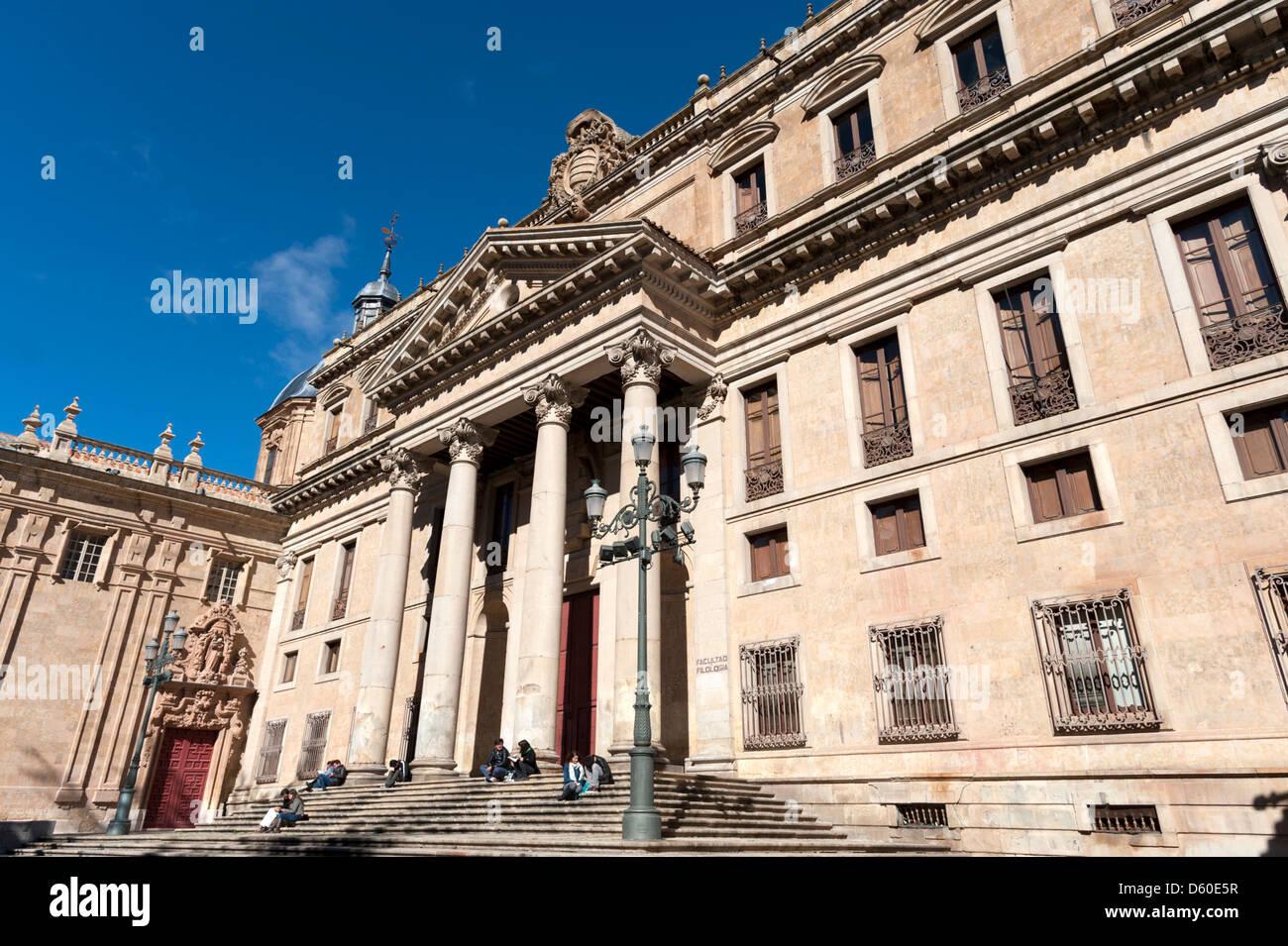 Palais d'Anaya, l'un des bâtiments de l'Université de Salamanque, Espagne Photo Stock