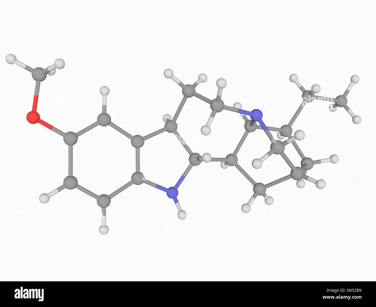 L'ibogaïne molécule pharmaceutique Banque D'Images