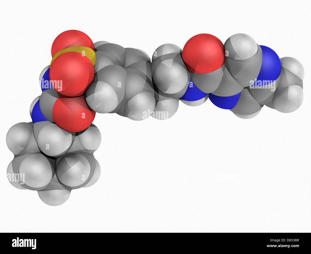 Glipizide molécule pharmaceutique Photo Stock