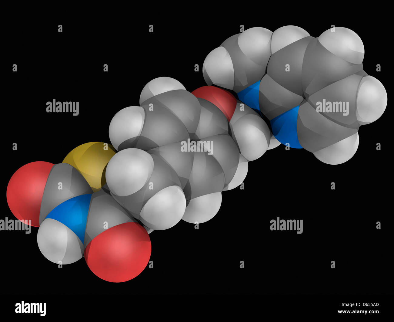 Rosiglitazone molécule pharmaceutique Photo Stock