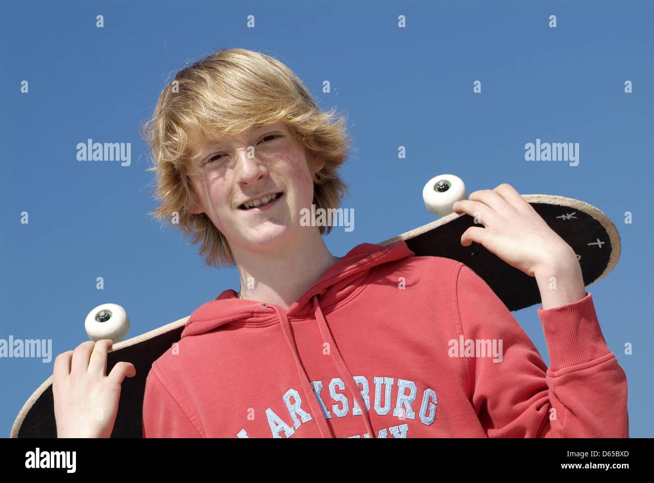 Adolescent,culture de la jeunesse,skateboard Photo Stock
