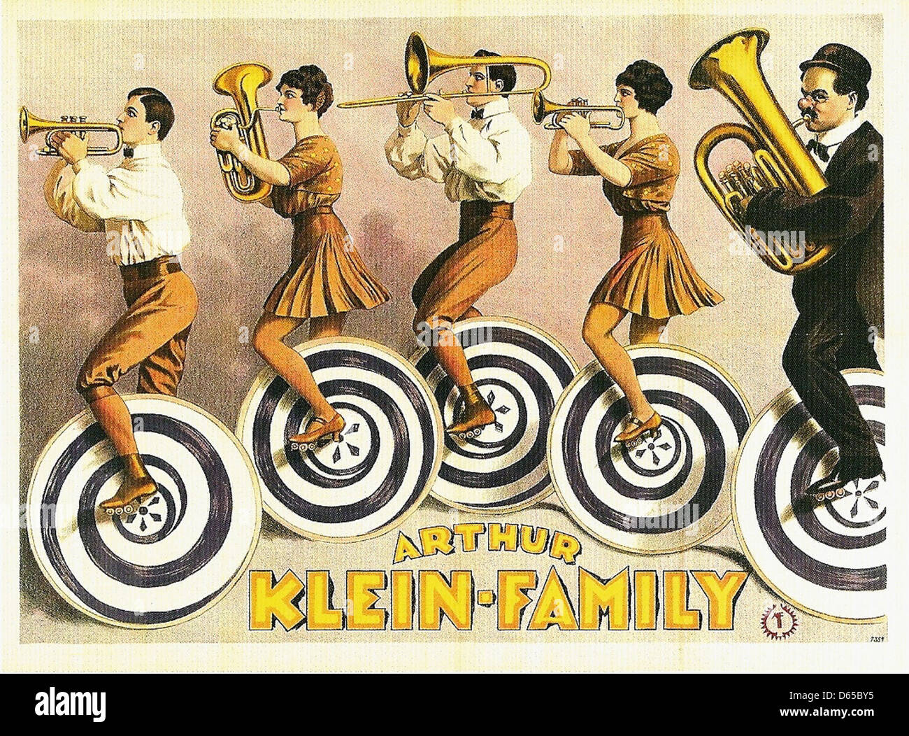 La famille Arthur Klein, 1923 Photo Stock