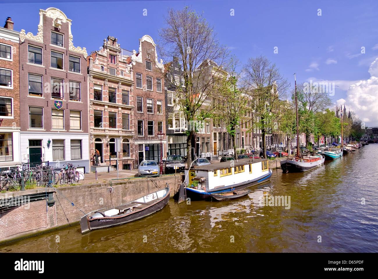 Gracht,Amsterdam Banque D'Images