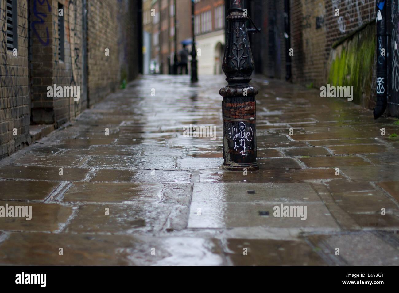 Jour de pluie à Londres Photo Stock