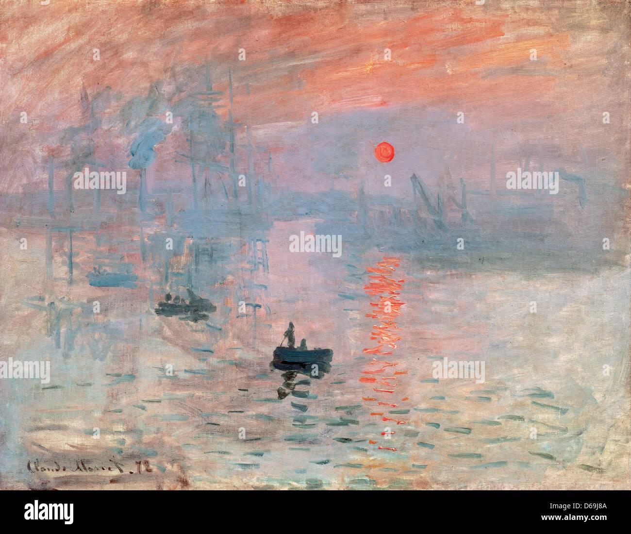 Claude Monet (1906-1957). Sunrise (Impression, soleil levant). 1872. Huile sur toile. Musée de Marmottan Monet. Photo Stock