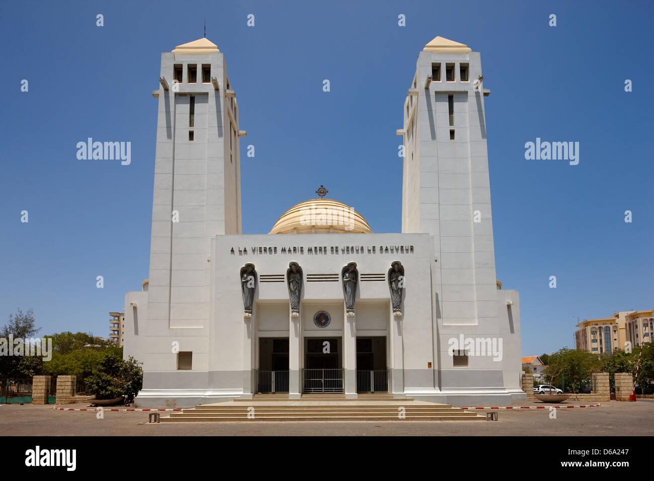 Cathédrale de Dakar, Sénégal, Afrique Photo Stock