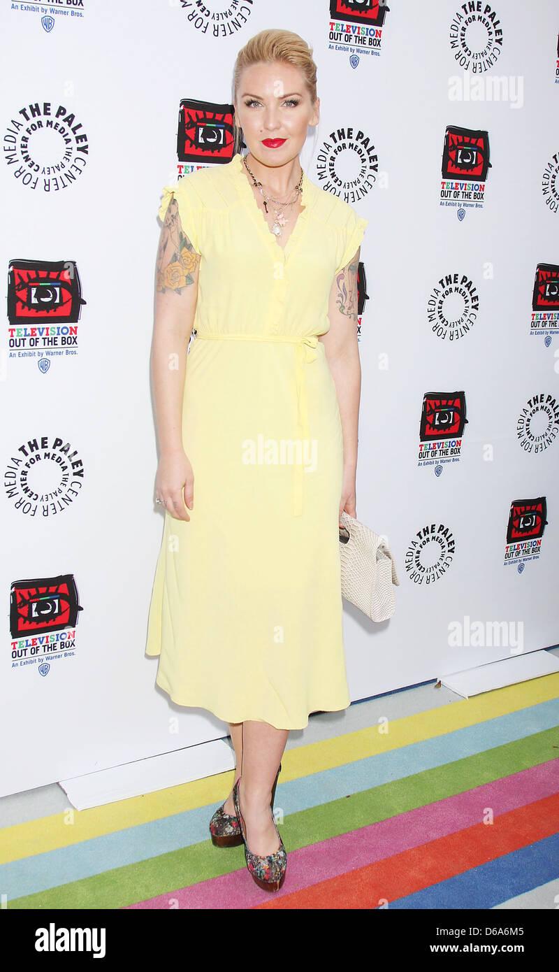 """Cherish Lee Warner Brothers présente la """"Télévision: Out of the box' à la Paley Photo Stock"""