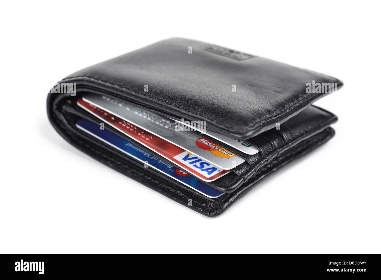Portefeuille avec cartes de crédit Photo Stock
