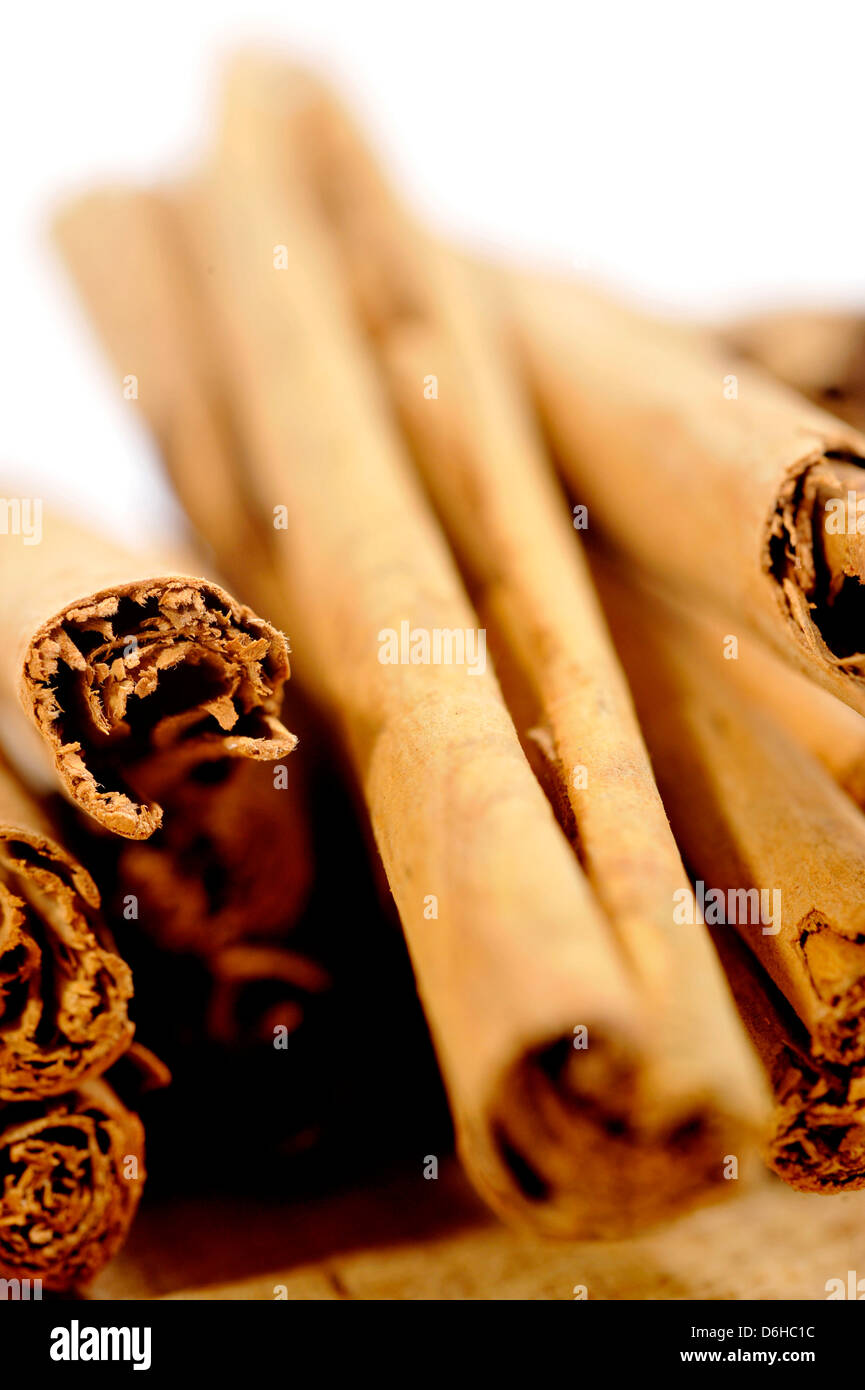 Bâtons d'épices cannelle Photo Stock