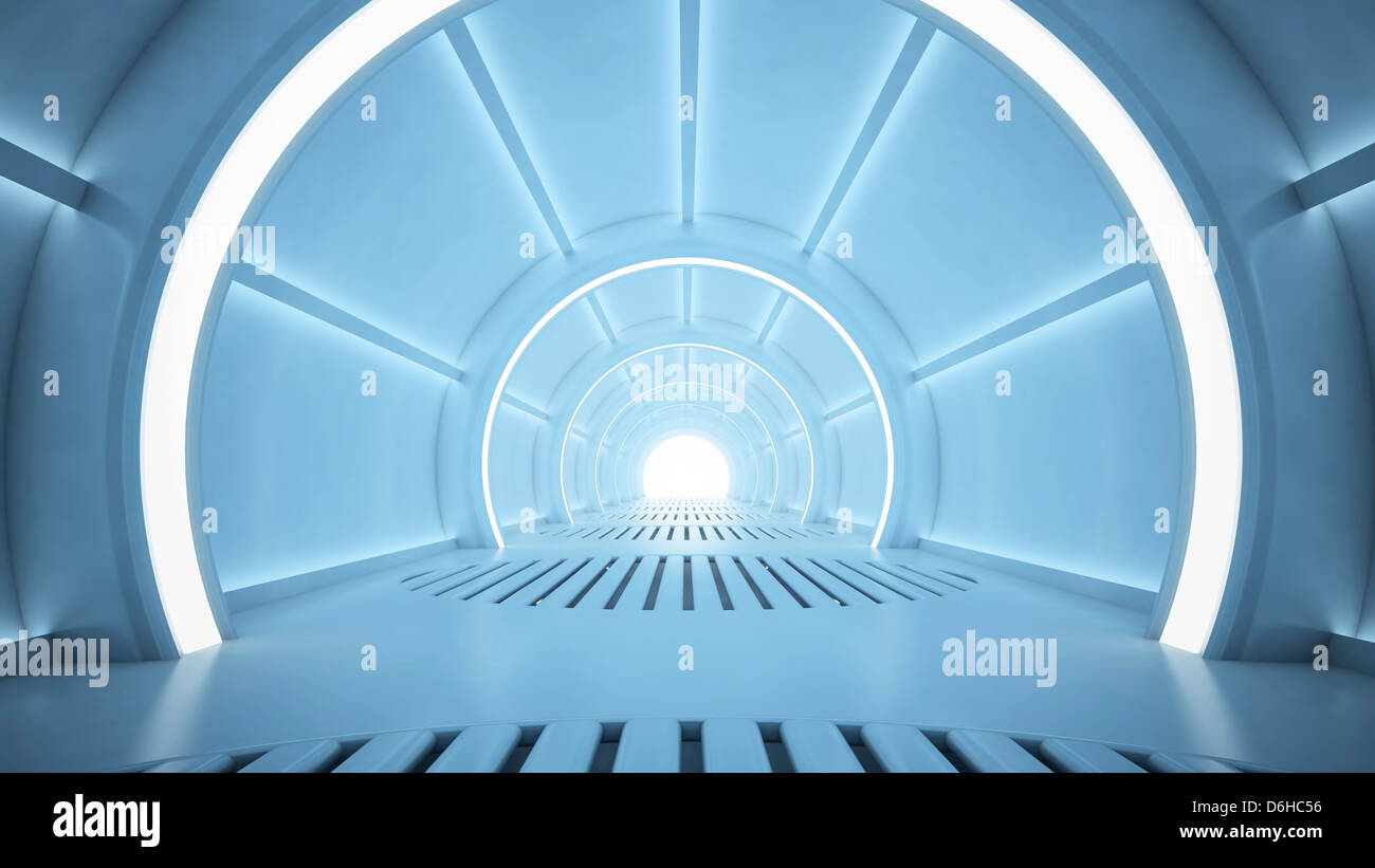 Couloir futuriste, artwork Photo Stock