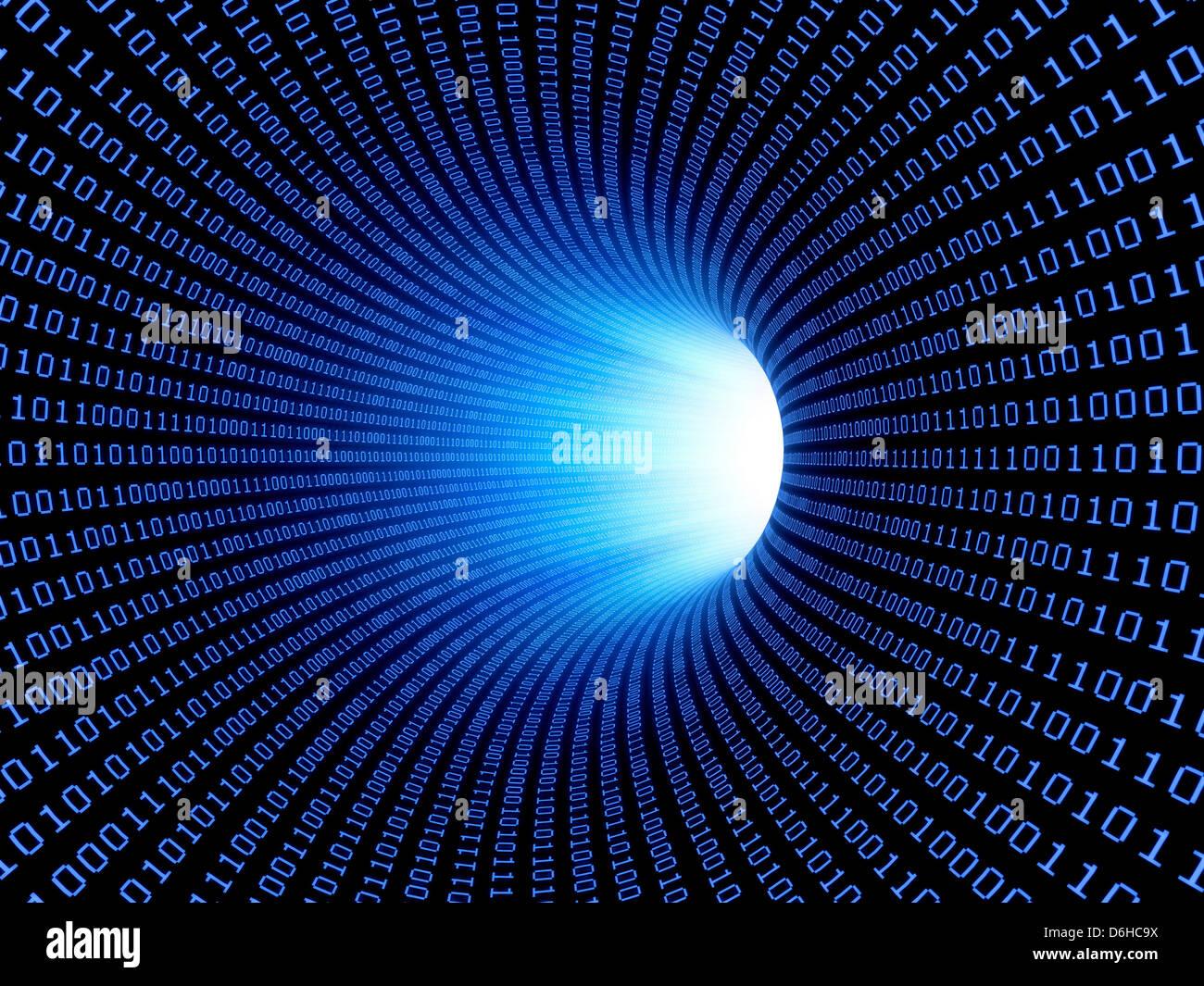 Flux de données, conceptual artwork Banque D'Images