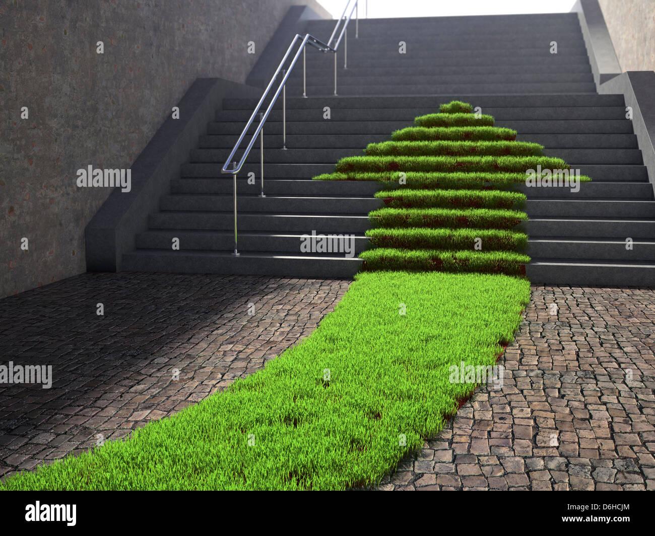 L'écologie urbaine, conceptual artwork Photo Stock