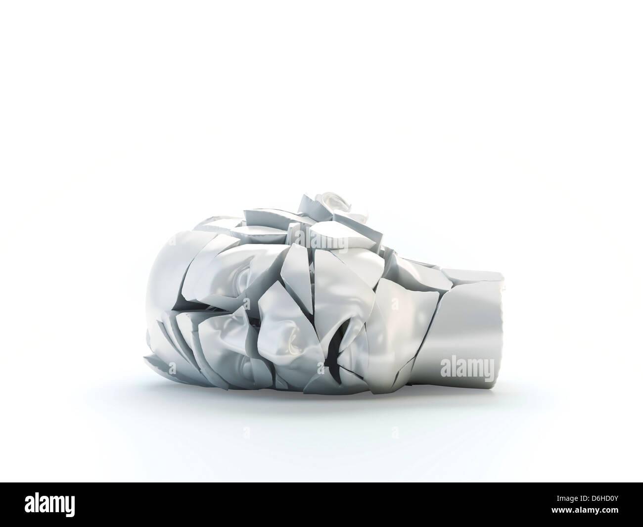 Problèmes de santé mentale, artwork Photo Stock