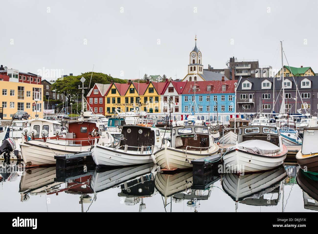 Port de Torshavn, Streymoy, îles Féroé, Danemark, Europe Photo Stock