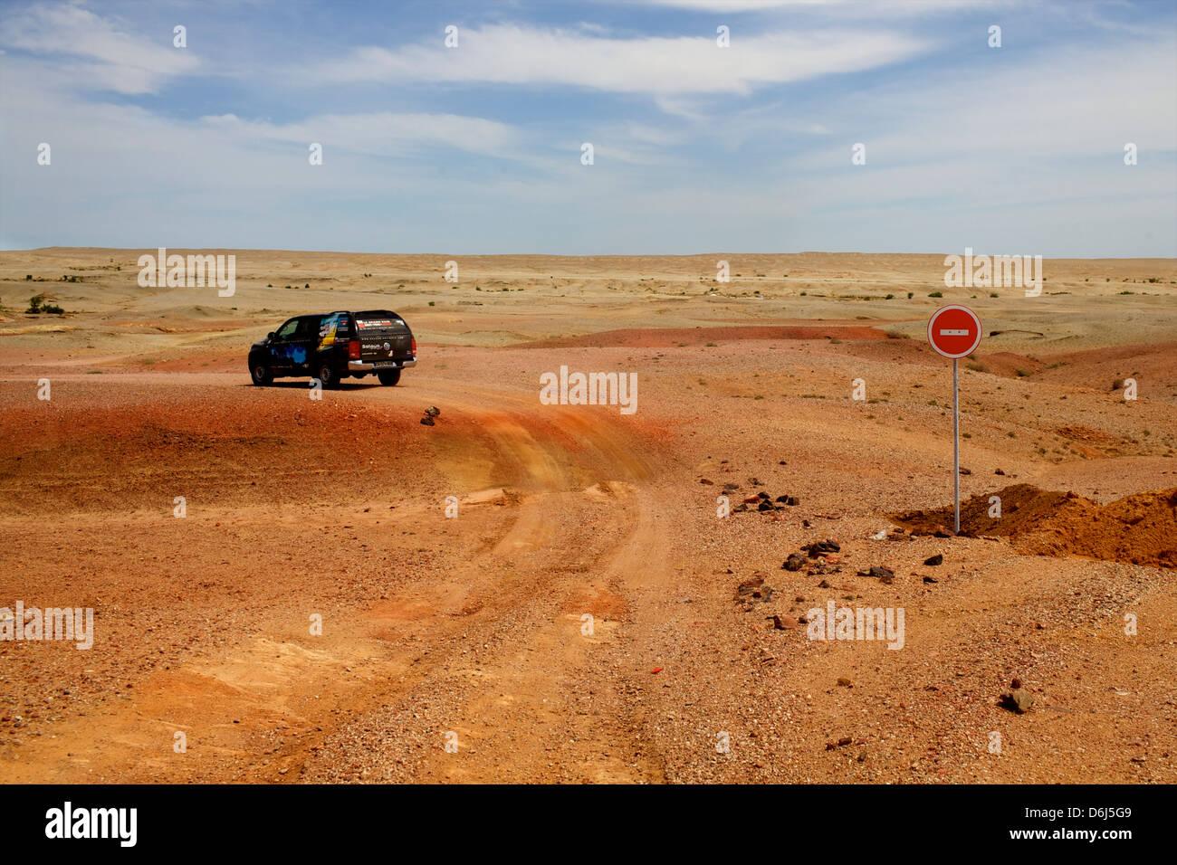 Au milieu du désert de Gobi, Mongolie, Mongolie, Asie centrale, Asie Photo Stock