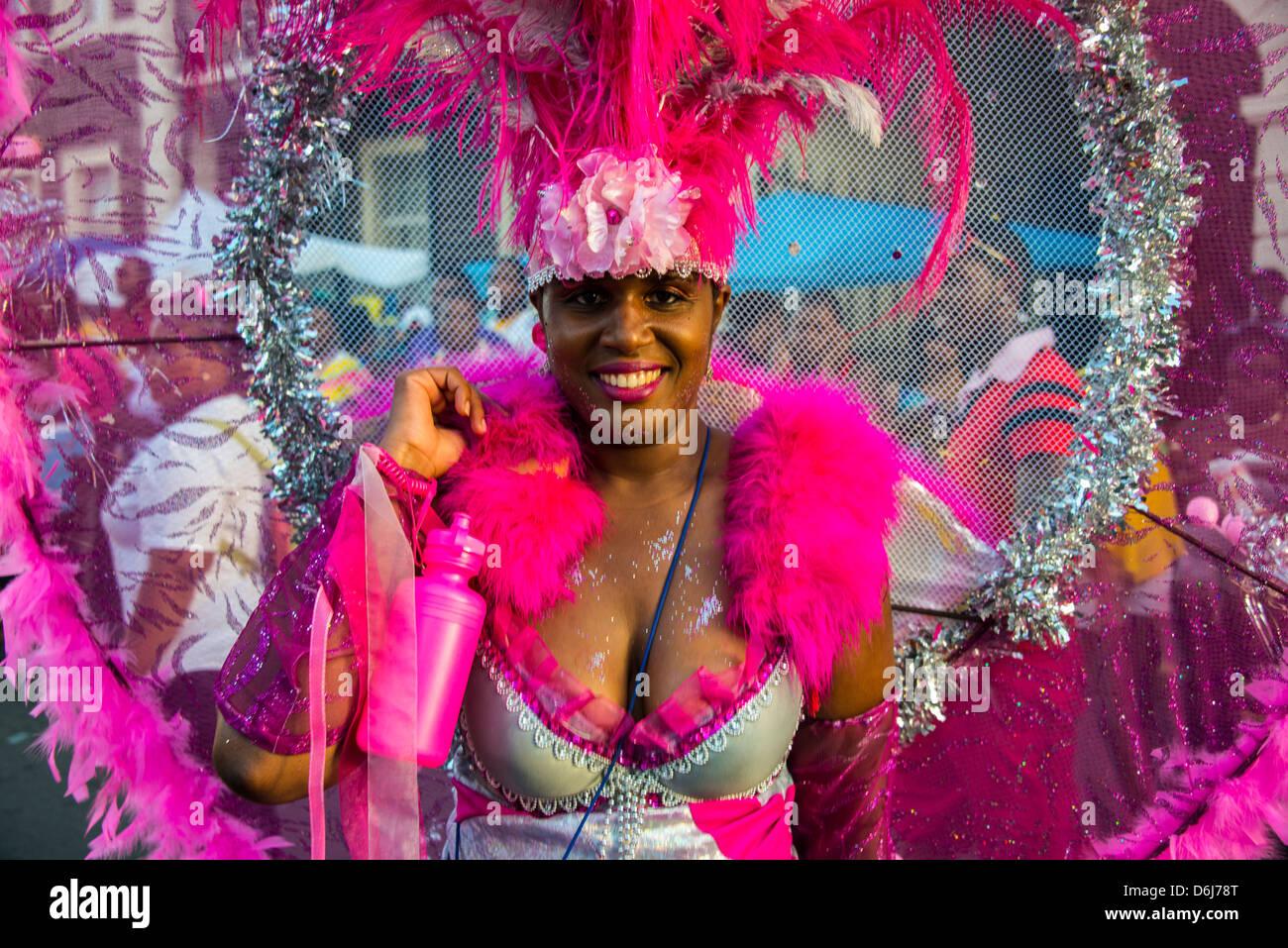 Carnaval à Basseterre, Saint Kitts, Saint Kitts et Nevis, Iles sous le vent, Antilles, Caraïbes, Amérique Photo Stock