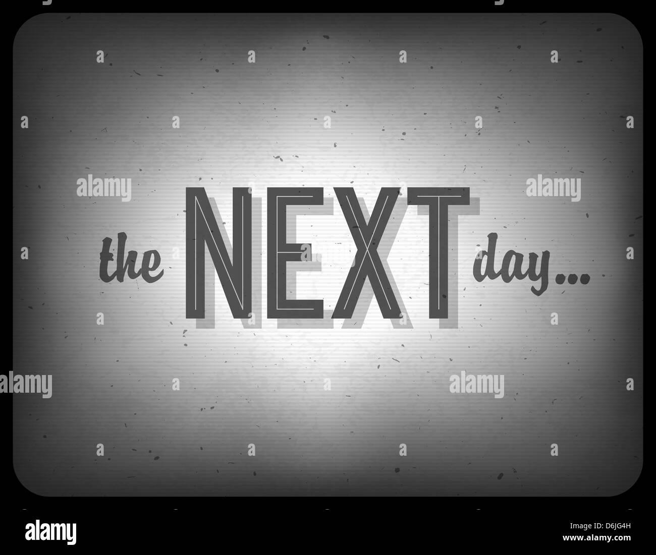 Ancien cinéma une phrase (le lendemain...) Photo Stock