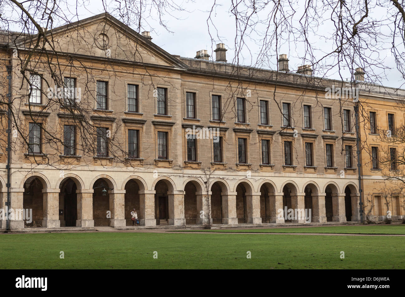 Nouveau bâtiment, Magdalen College, Oxford, Oxfordshire, Angleterre, Royaume-Uni, Europe Photo Stock