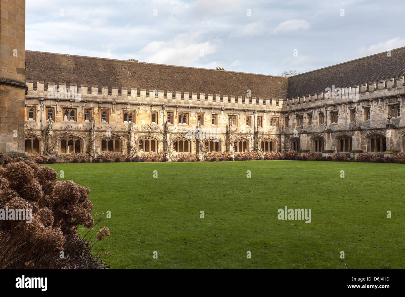 Le Cloître du Magdalen College, Oxford, Oxfordshire, Angleterre, Royaume-Uni, Europe Photo Stock