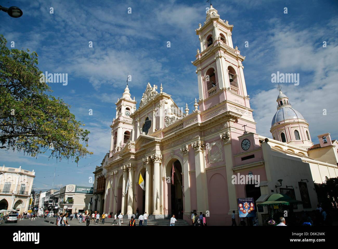 Iglesia Catedral, la cathédrale principale sur 9 Julio Square, Salta City, Argentine, Amérique du Sud Photo Stock
