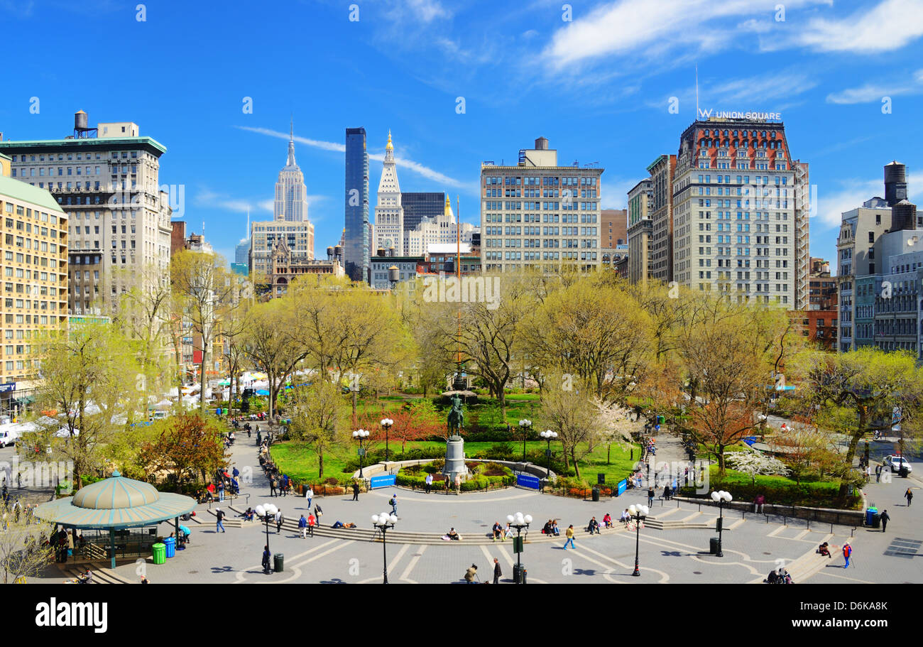 Union Square à New York City Photo Stock