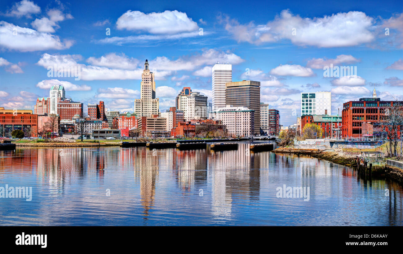 Providence, Rhode Island a été l'une des premières villes établies aux États-Unis. Banque D'Images