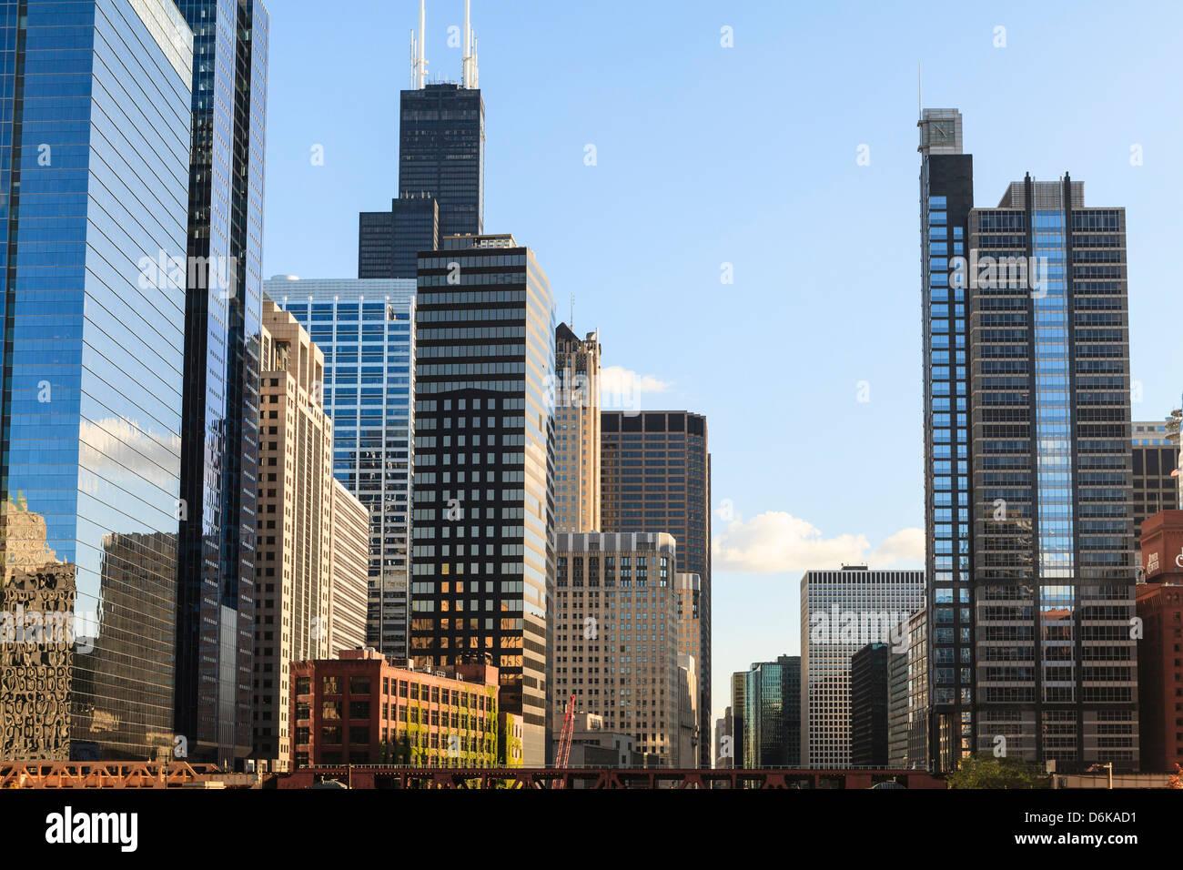 Des gratte-ciel, Chicago, Illinois, États-Unis d'Amérique, Amérique du Nord Photo Stock