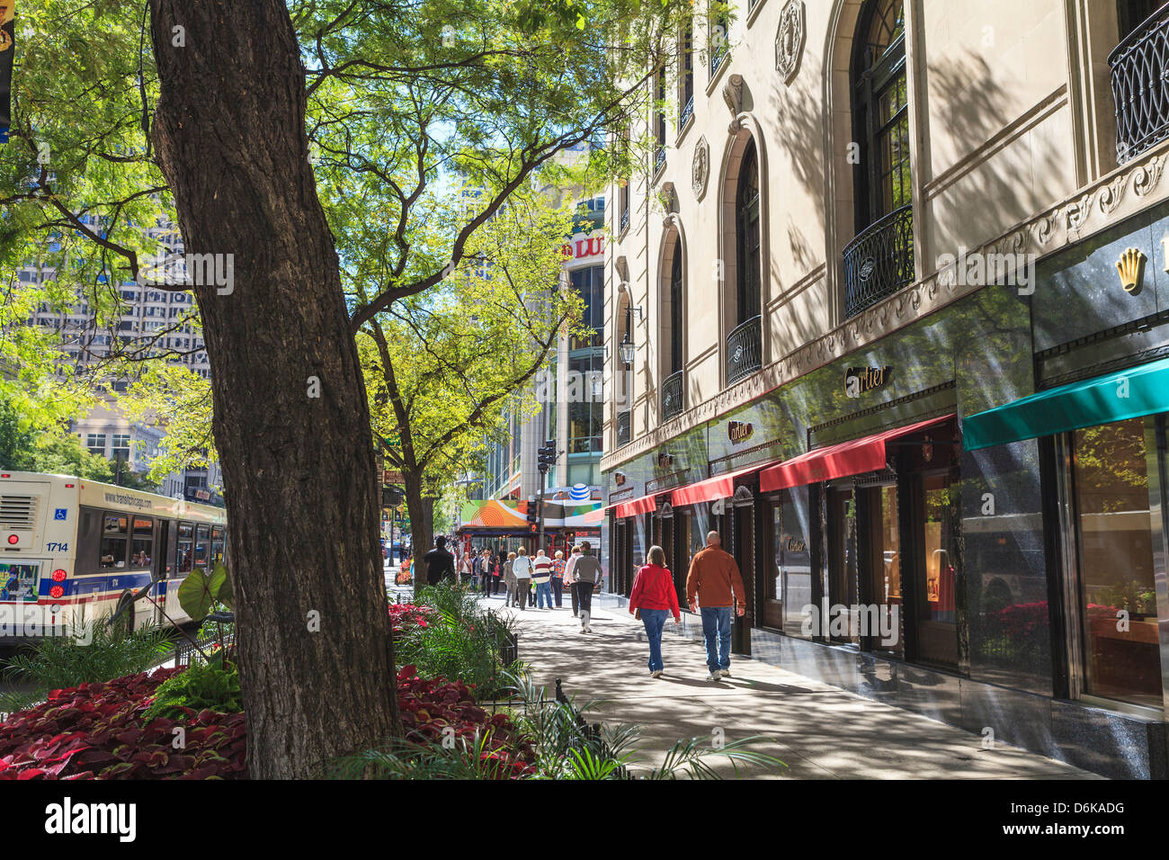Le Magnificent Mile, North Michigan Avenue, Chicago, Chicago, Illinois Photo Stock