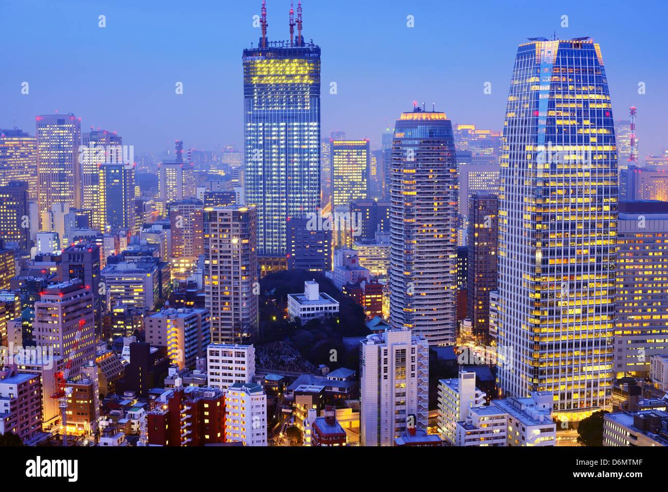 Gratte-ciel de Tokyo, Japon Photo Stock