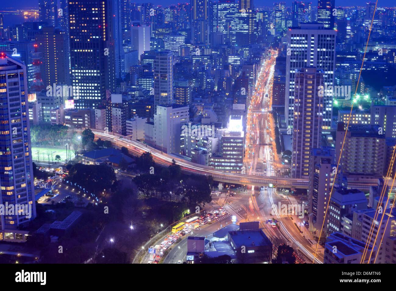Les autoroutes et les routes à Tokyo, Japon Photo Stock